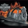 Ande Rooney Harley Davidson Fire Helmet Sign