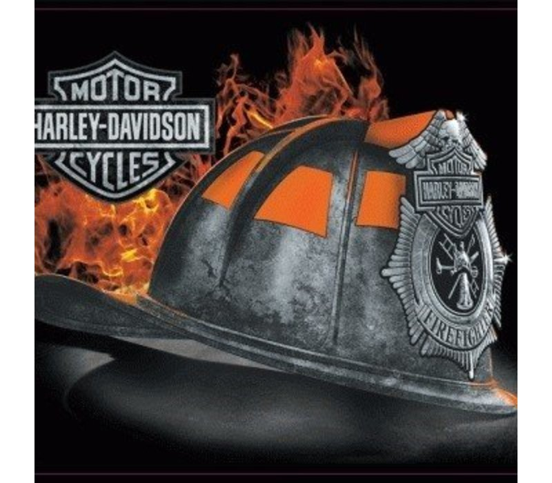 Harley Davidson Fire Helmet Sign