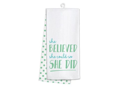 Kitchen Towel She Believed She Could