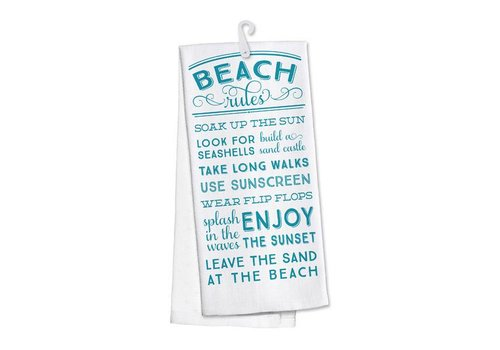 Kitchen Towel Beach Rules