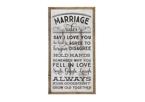Wooden Wall Art-Marriage Rules