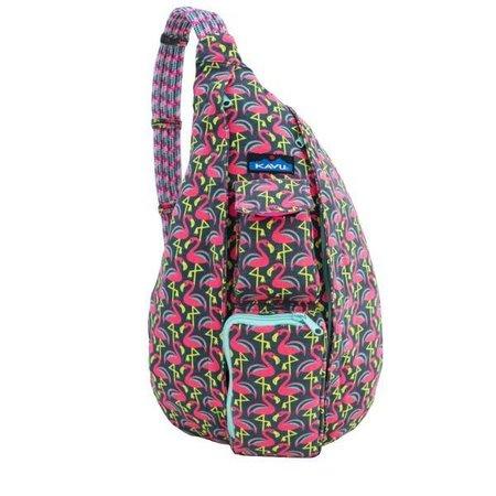 Rope Bag Pink Flamingo