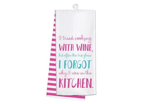 Kitchen Towel I Tried Cooking With Wine