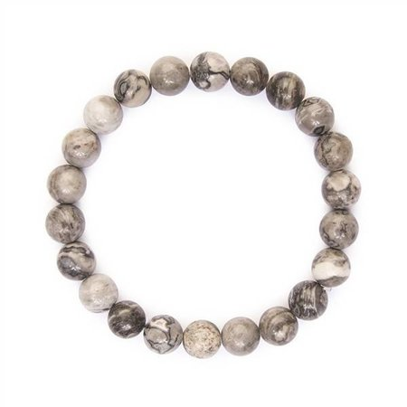 Black and White Natural Bead Bracelet
