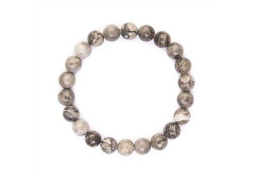 Black and White Natural Bead Bracelet