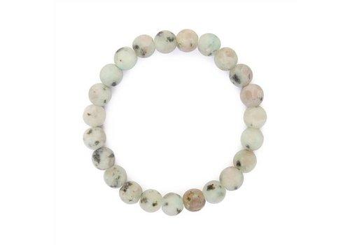 Grey Natural Bead Bracelet
