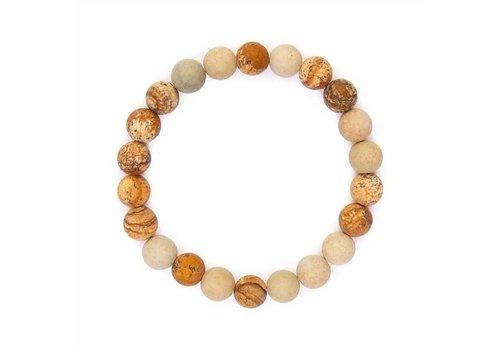 Brown Natural Bead Bracelet