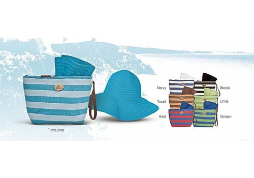 Cappelli Straworld Cap Wristlet Combo Turquoise