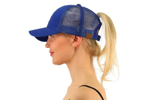 Girlie Girl C.C Ponycaps Ponytail Cap Royal