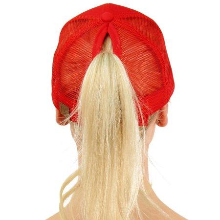 Ponycaps Ponytail Cap Red