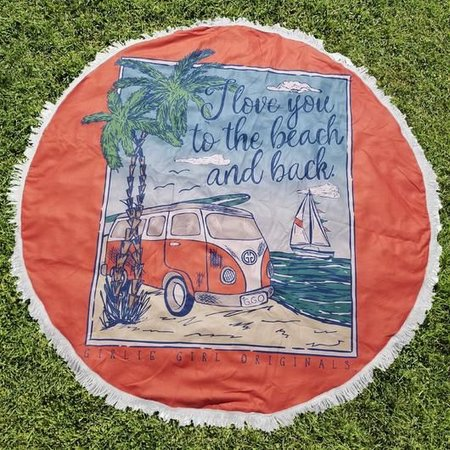 Girlie Girl Round Beach Towel Beach & Back