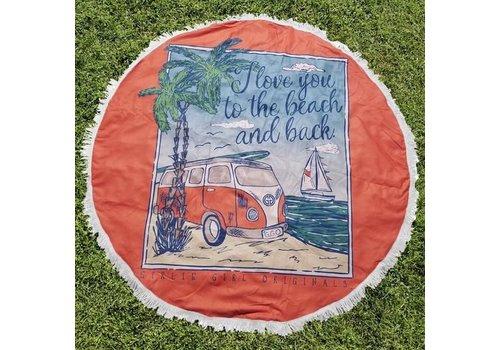 Girlie Girl Girlie Girl Round Beach Towel Beach & Back