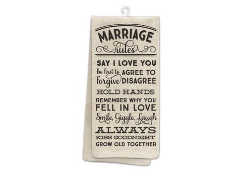 Kitchen Towel Marriage Rules