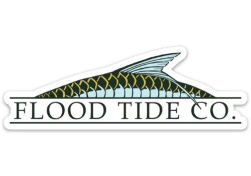 Flood Tide Co. Flood Tide ROLLING TARPON LOGO STICKER