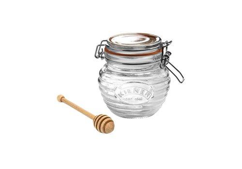 Typhoon Homewares Kilner Clip Top Honey Pot & Dipper 13.5 FL OZ