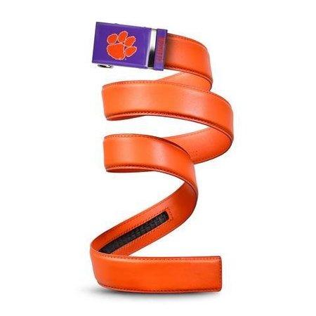 Mission Clemson Dark Orange Leather Belt