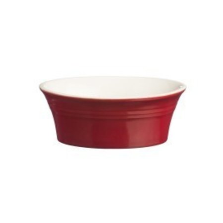 Mason Jar Classic Kitchen Red Oval Pie Dish 7""