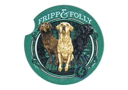 Fripp & Folly Fripp & Folly Car Coaster Three Dog