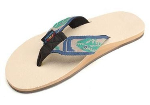 Rainbow Sandals Rainbow Single Layer Natural Hemp w/ Light Green Fish Strap