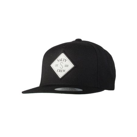Salty Crew Tippet Patched 5 Panel Hat Black
