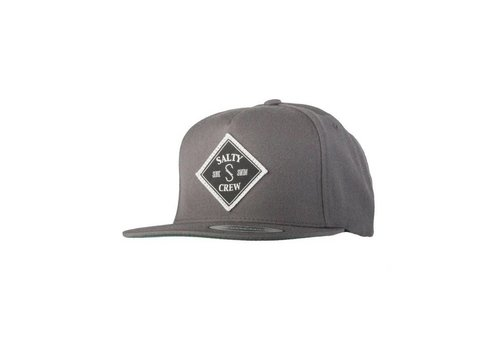 Salty Crew Tippet Patched 5 Panel Hat Charcoal