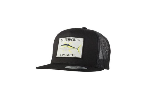 Salty Crew Ahi Patched Trucker Hat Black