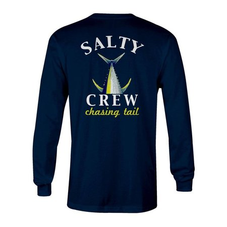 Salty Crew Chasing Tail Fish Tech L/S Navy