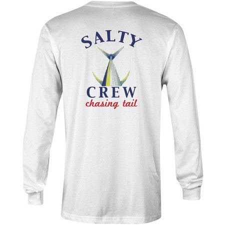 Salty Crew Chasing Tail Fish Tech L/S White