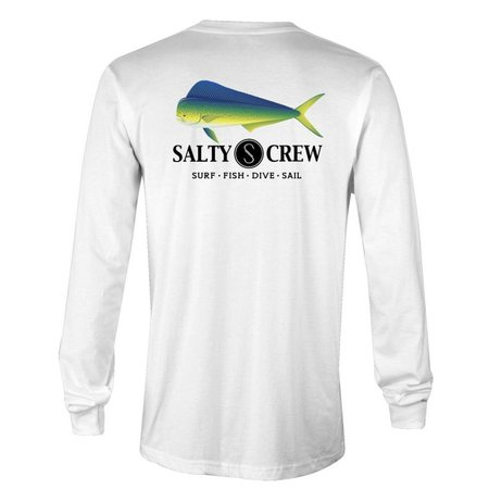 Salty Crew Mahi Fish Tech L/S Shirt White