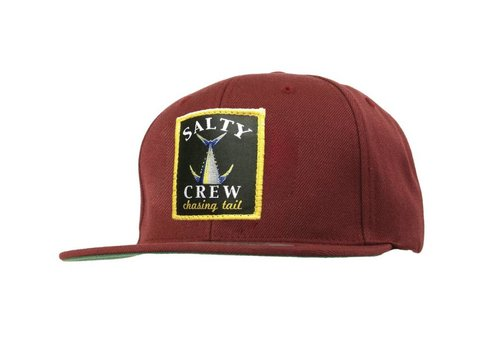 Salty Crew Salty Crew Chasing Tail Patched Hat Burgandy