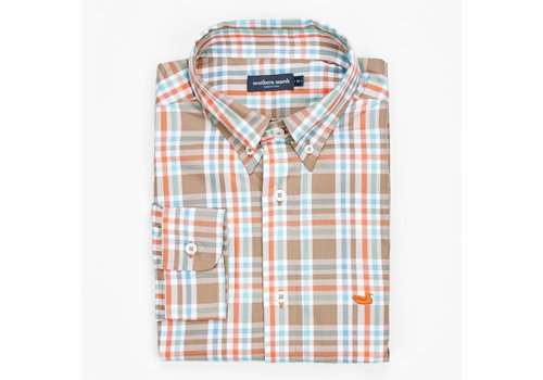 Southern Marsh Southern Marsh Fairley Plaid SLATE & ORANGE XX-Large