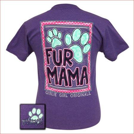 Fur Mama Retro Heather Purple T-Shirt