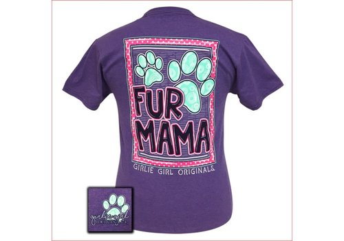 Girlie Girl Girlie Girl Fur Mama Retro Heather Purple T-Shirt