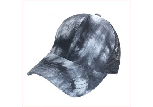 Girlie Girl C.C Ponycaps Ponytail Cap Black Tie Dye