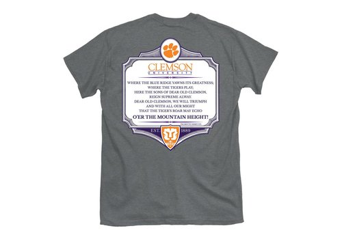 Clemson Alma Mater Oxford Gray