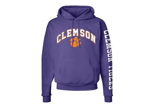 Clemson Arched Fleece Hoodie Purple