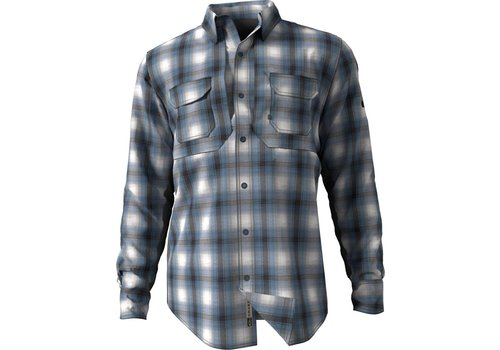 Drake Drake Wingshooter Steel Blue Plaid LS