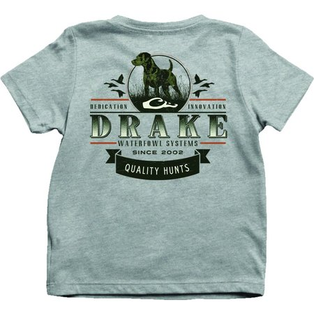 Drake Youth Quality Hunts Tee Max-5 Athletic Heather