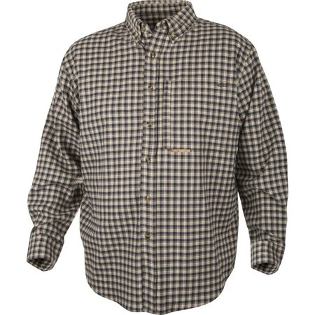 Autumn Brushed Twill Navy Cream Plaid