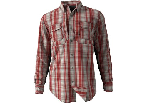 Drake Drake Wingshooter Madras Plaid Dark Red LS
