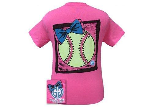 Girlie Girl Girlie Girl Preppy Softball Safety Pink
