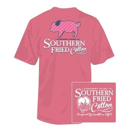 Southern Fried Cotton Striped Pig SS Youth T-Shirt