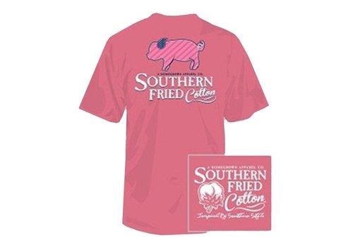 Southern Fried Cotton Southern Fried Cotton Striped Pig SS Youth T-Shirt