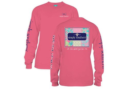 Simply Southern Simply Southern Patchwork LS T-Shirt