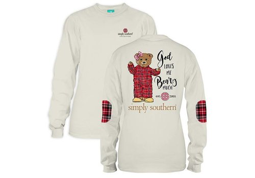 Simply Southern Simply Southern God Love Me Beary Much LS T-Shirt