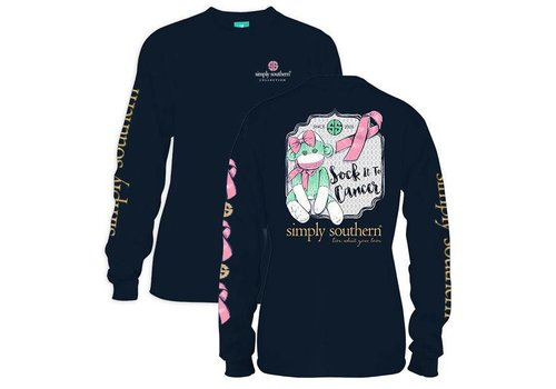 Simply Southern Simply Southern Sock it to Cancer LS T-Shirt