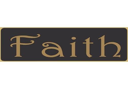 Poor Boy Woodworks Faith 5.5' Black Sign