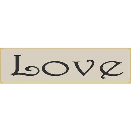 Love 5.5' White Sign