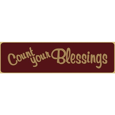 Count Your Blessings 5.5' Red Sign