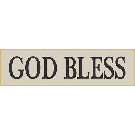 God Bless 5.5' White Sign